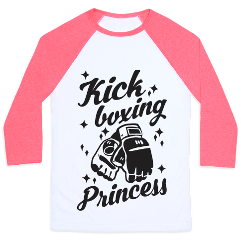 Kickboxing Princess Baseball Tee