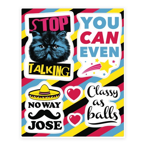 Sassy Girl Sticker and Decal Sheet