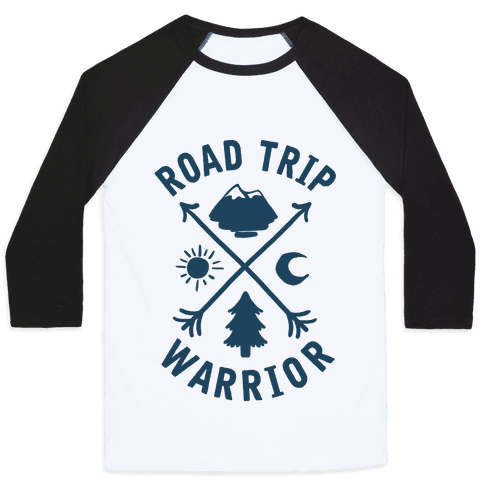 Road Trip Warrior Baseball Tee