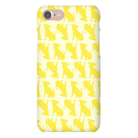 Yellow Puppy Pattern Phone Case