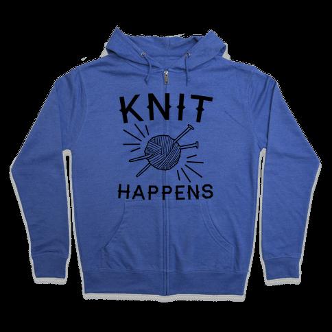 Knit Happens Zip Hoodie