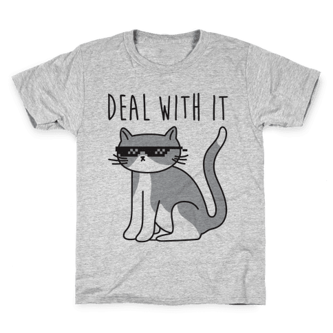 Deal With It Cat Kids T-Shirt