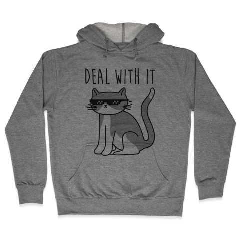 Deal With It Cat Hooded Sweatshirt