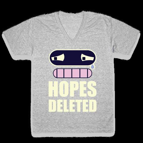 Hopes Deleted V-Neck Tee Shirt