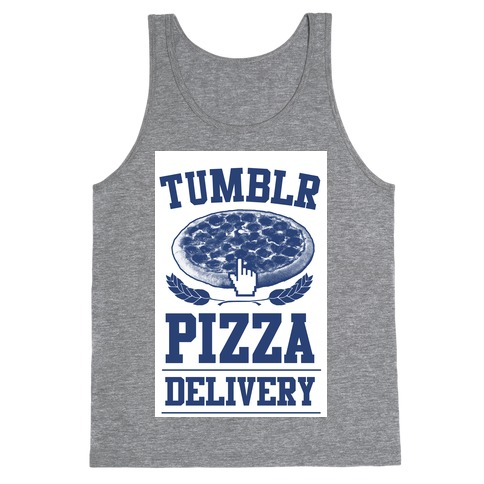 Tumblr Pizza Delivery Tank Top