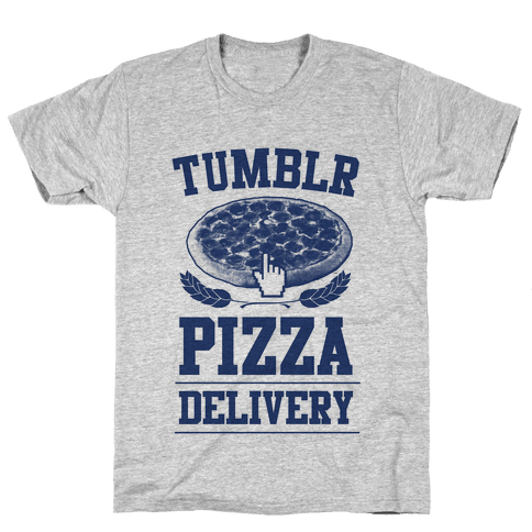 Tumblr Pizza Delivery Mens T-Shirt