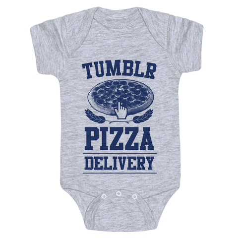Tumblr Pizza Delivery Baby Onesy