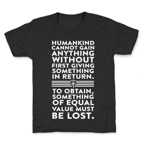 The First Law of Alchemy Kids T-Shirt
