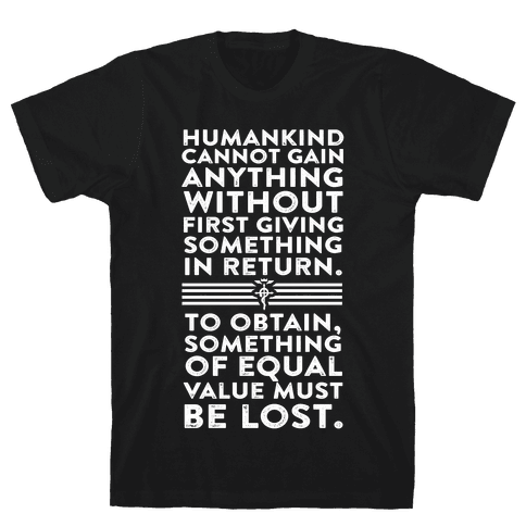 The First Law of Alchemy Mens T-Shirt