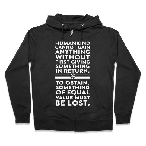 The First Law of Alchemy Zip Hoodie