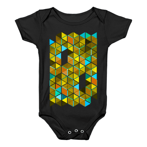 Colorful Tiles Baby Onesy