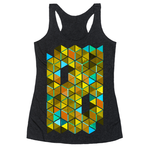 Colorful Tiles Racerback Tank Top