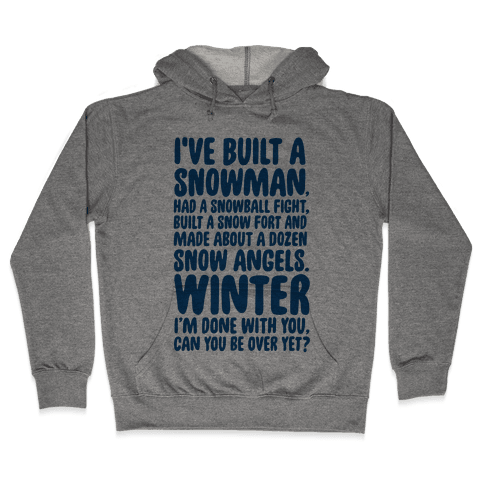 Over Winter Time Hooded Sweatshirt