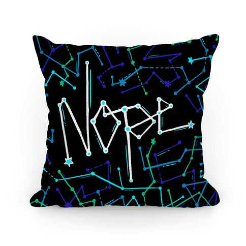 Nope Constellation Pattern Pillow
