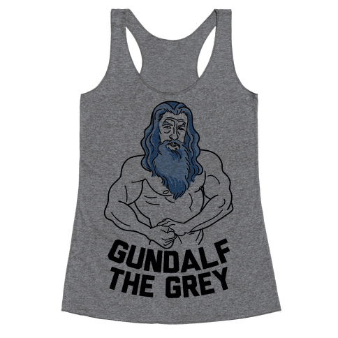 Gundalf The Grey Racerback Tank Top