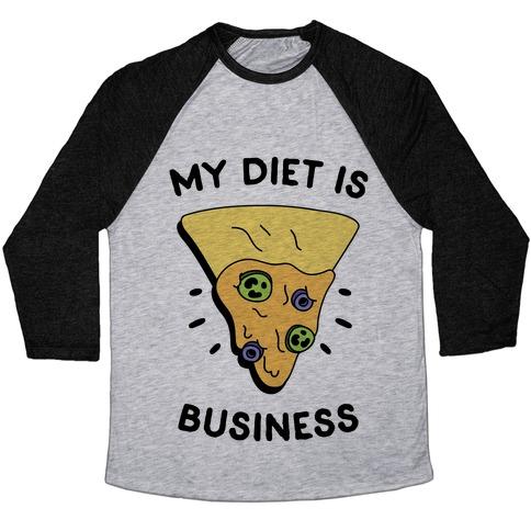 My Diet Is Nacho Business Baseball Tee