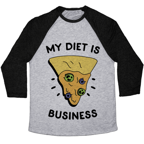 My Diet Is Nacho Business Baseball Tee