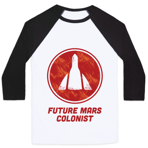 Baby Future Mars Colonist Baseball Tee