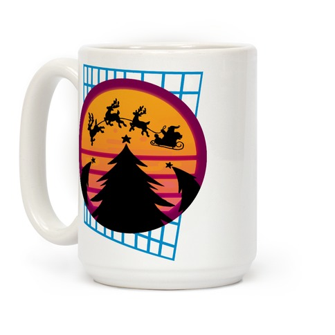 Synthwave Christmas Coffee Mug