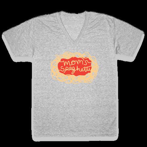 Mom's Spaghetti V-Neck Tee Shirt