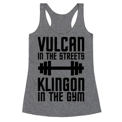 Klingon in the Gym Racerback Tank Top