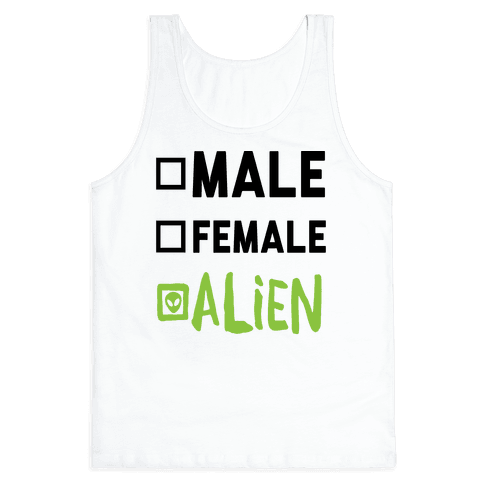 Male Female Alien Tank Top