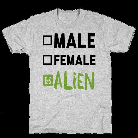 Male Female Alien Mens T-Shirt