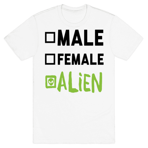 Male Female Alien Mens T-Shirt