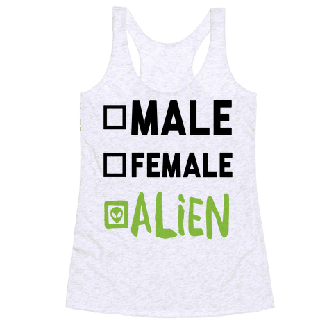 Male Female Alien Racerback Tank Top