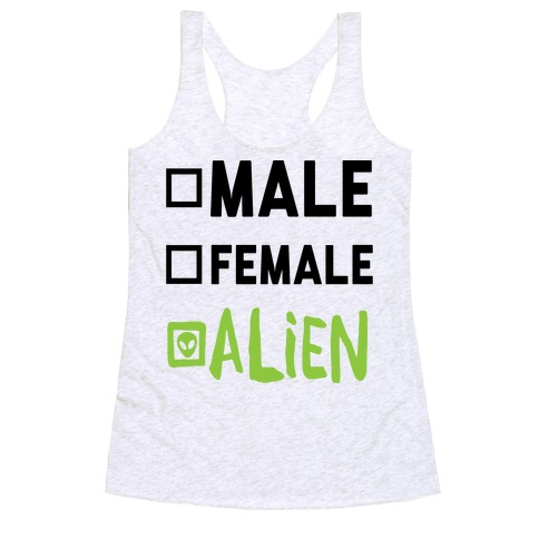 Male Female Alien Racerback Tank Top