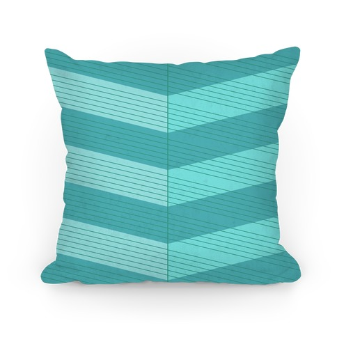 Stripes on Stripes Pattern (Blue) Pillow