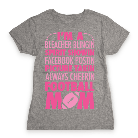 Football Mom Womens T-Shirt