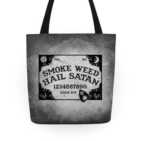 Smoke Weed Hail Satan Ouija Board Tote