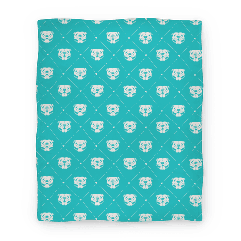 Pit Bull Love Pattern Blanket