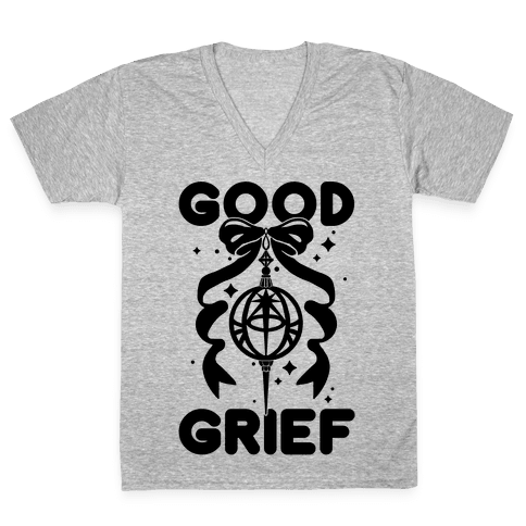 Good Grief V-Neck Tee Shirt