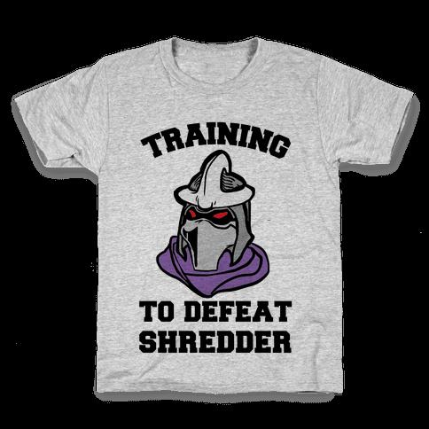 Training To Defeat Shredder Kids T-Shirt