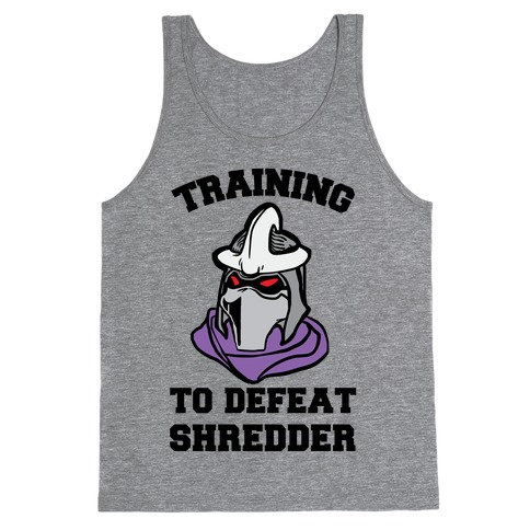 Training To Defeat Shredder Tank Top