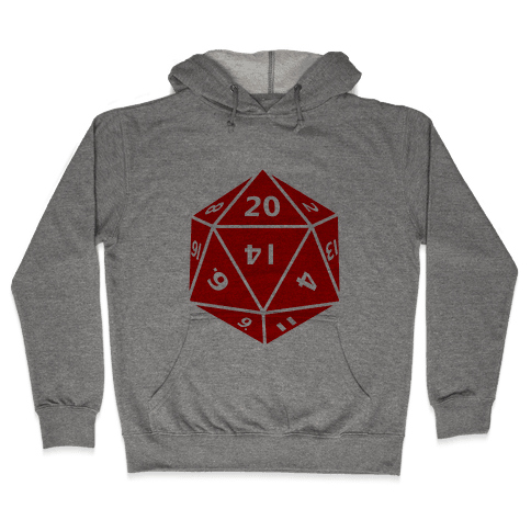 D20 Die Hooded Sweatshirt
