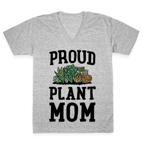 Proud Plant Mom V-Neck Tee Shirt