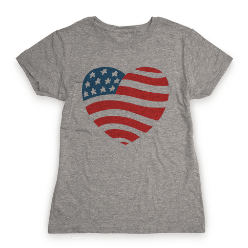 American Heart Womens T-Shirt