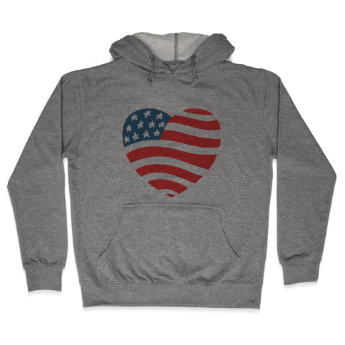 American Heart Hooded Sweatshirt
