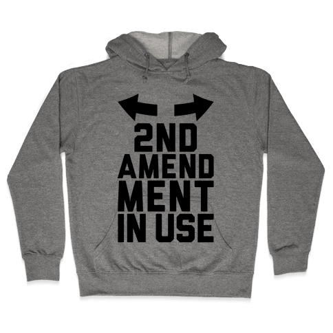 2nd Amendment In Use Hooded Sweatshirt