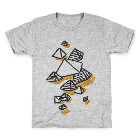Geometric Pyramids Kids T-Shirt