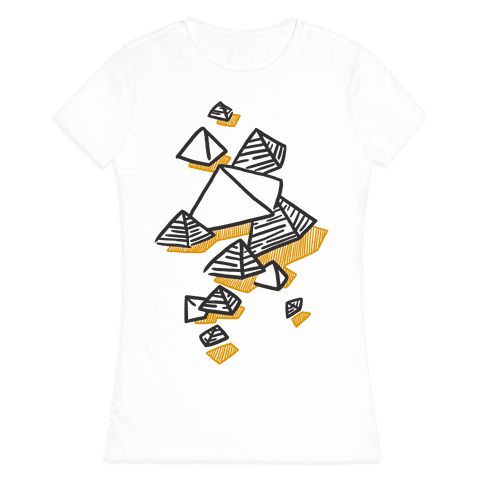 Geometric Pyramids Womens T-Shirt