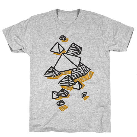 Geometric Pyramids Mens T-Shirt