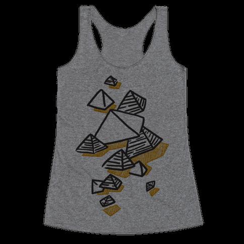 Geometric Pyramids Racerback Tank Top