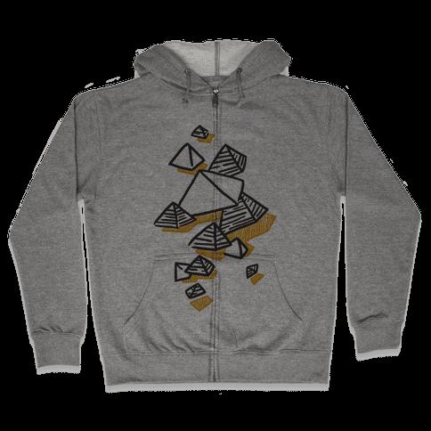 Geometric Pyramids Zip Hoodie