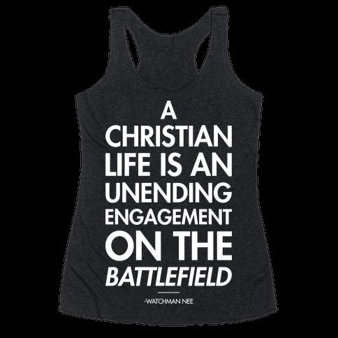 """Christian Life"" Watchman Nee Racerback Tank Top"
