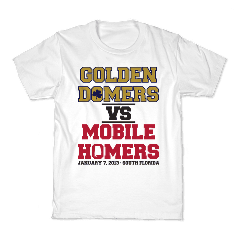 Golden Domers Vs Mobile Homers  Kids T-Shirt