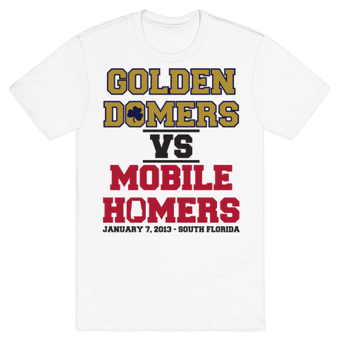 Golden Domers Vs Mobile Homers  Mens T-Shirt